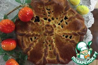 Рецепт: Пирог пасхальный Вязаный
