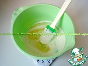 Творог, йогурт и растительное масло соединить вместе.