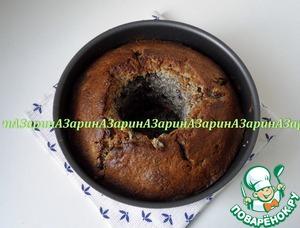 Выпекать кекс в заранее разогретой духовке до 200 гр., ~ 40 минут. Готовность определить сухой шпажкой.