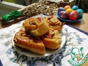 Рецепт Ночные булочки с карамелью и орехами