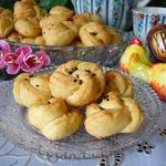 Мини-булочки Сырные цветочки