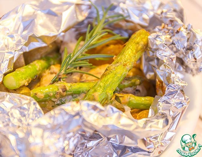 Рецепт: Рыба снеппер в пергаментной бумаге