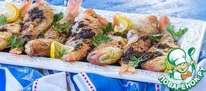 Подаем рыбу полив соусом. Посыпать свеженарезанной петрушкой!