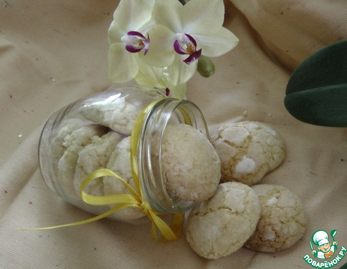 Рецепт: Кокосовое печенье с цедрой лимона