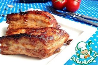 Рецепт: Свиная грудинка Ароматная