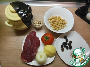 Рецепт Азербайджанский суп-пити в горшочках