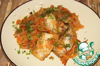 Рецепт: Рыба, запеченная в капусте