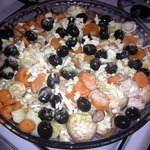 Рыбка с грибами и овощами в духовке