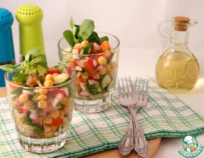 Рецепт: Весенний салат с нутом