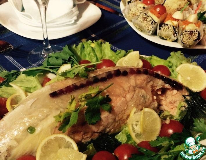Рецепт: Рыба заливная в форме