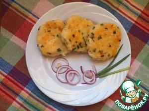 Рецепт Картофельные блинчики с вермишелью и зеленым луком