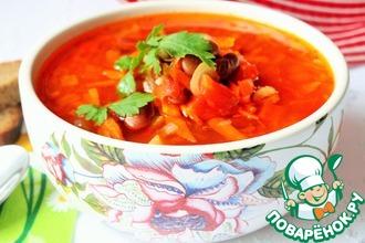 Рецепт: Мексиканский суп с фасолью