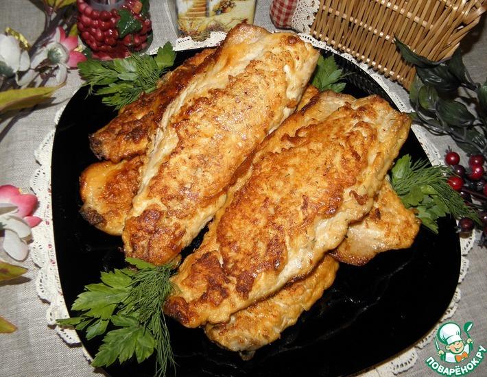 Рецепт: Скумбрия жареная Золотая рыбка