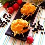 Кукурузные профитроли с фасолевым салатом