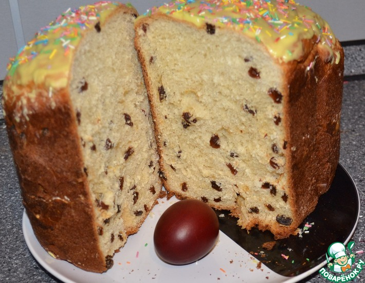 Рецепт: Кекс-кулич в хлебопечке