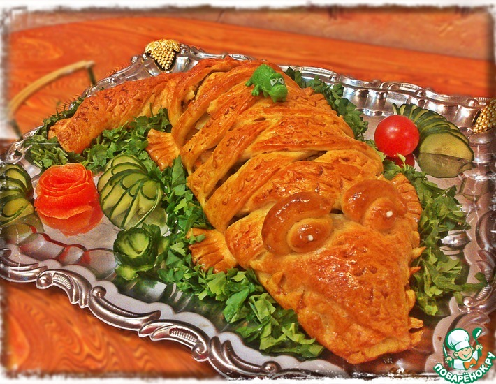 Рецепт: Куриный пирог Крокодил