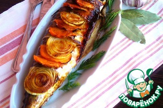 Рецепт: Скумбрия в духовке с овощами