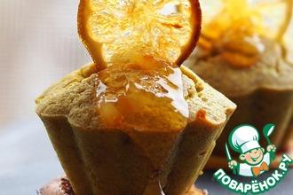 Рецепт: Чечевичные кексы с цитрусовыми чипсами