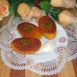 Картофельные зразы с фасолью