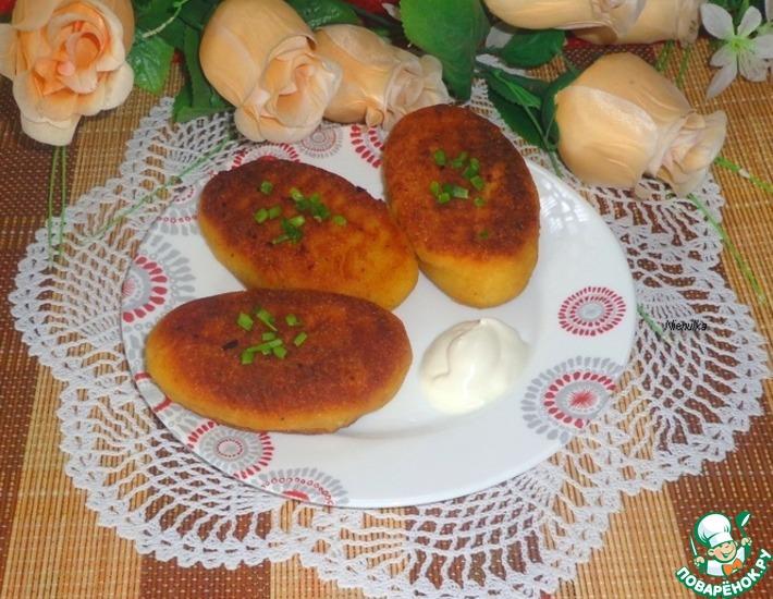 Рецепт: Картофельные зразы с фасолью