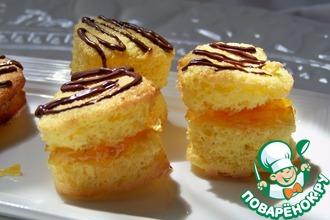 Рецепт: Печенье с джемом и шоколадными полосочками
