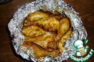 Рецепт: Кисло-сладкая курица, запеченная в фольге