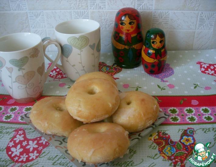Рецепт: Апельсиновые булочки А-ля пончики