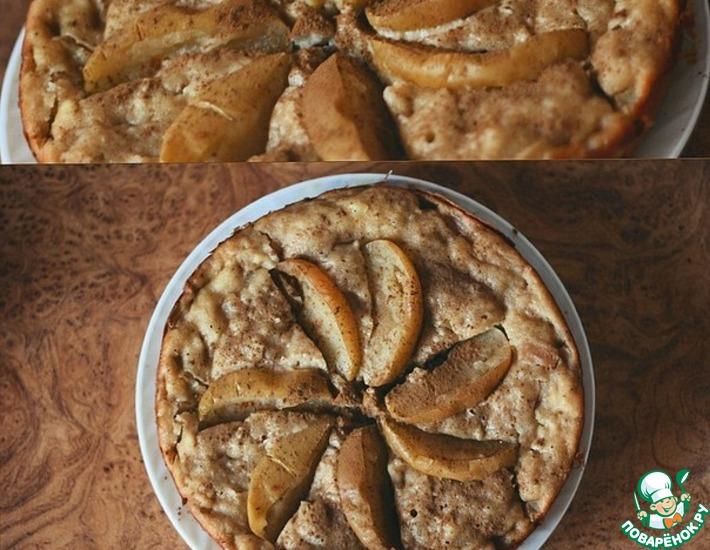 Рецепт: Манник с творогом и яблоками в мультиварке