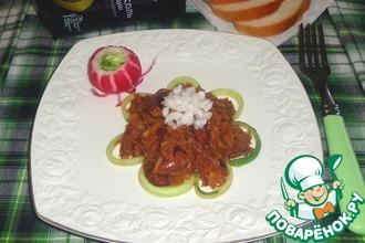 Рецепт: Тушёная капуста с фасолью