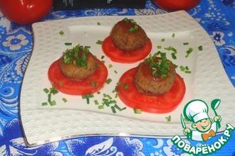 Рецепт: Тефтели под томатно-имбирным соусом