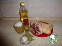 Свиная рулька, запеченная в духовке ингредиенты
