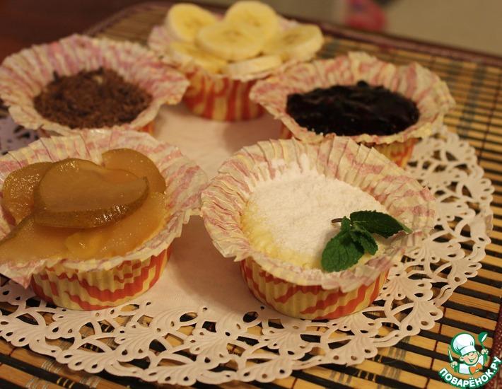 Рецепт: Творожные кексы-сырники в микроволновке