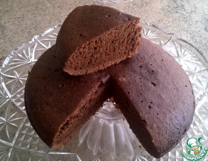 Рецепт: Постный шоколадный пирог в мультиварке