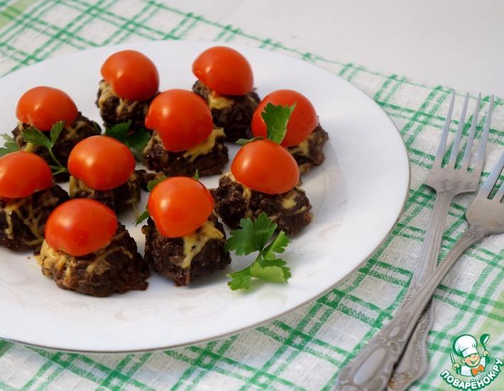 Рецепт: Мясные шарики с сыром и черри
