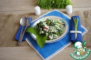 Рецепт Весенний салат с черемшой