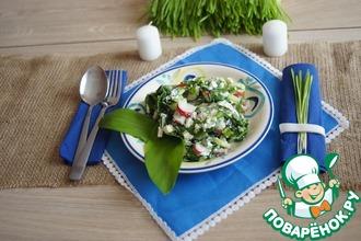 Рецепт: Весенний салат с черемшой