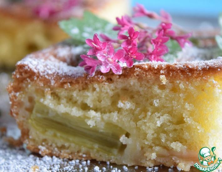 Рецепт: Простой пирог из ревеня