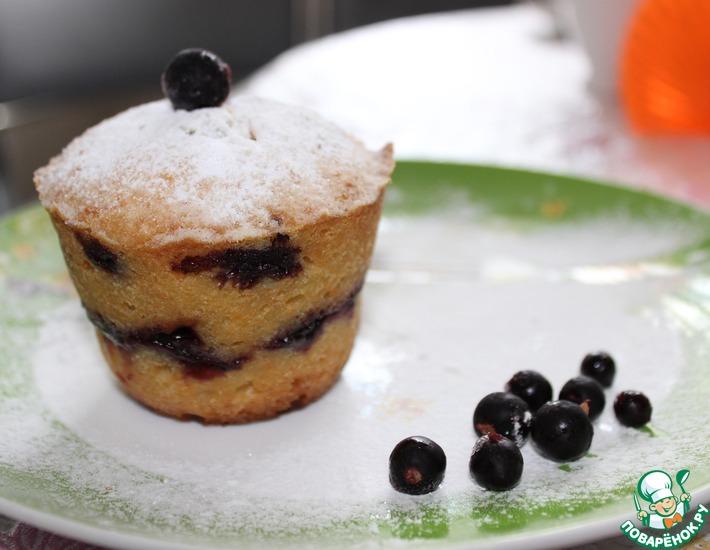 Рецепт: Творожный кекс с голубикой