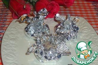Рецепт: Фасолево-рисовые котлетки в фольге