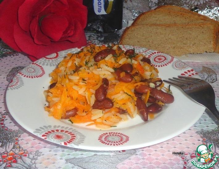 Рецепт: Овощи тушеные с фасолью