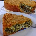 Закрытый сырный тарт со шпинатом