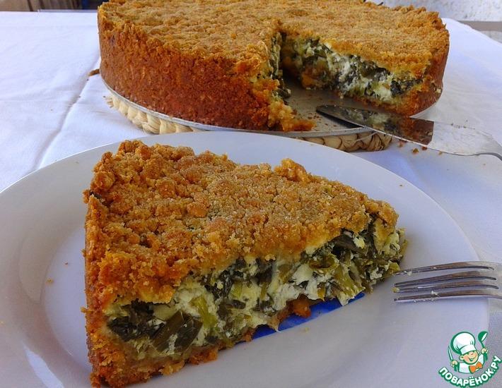 Рецепт: Закрытый сырный тарт со шпинатом