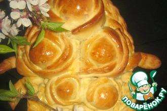 Рецепт: Пирог Корзинка с розами
