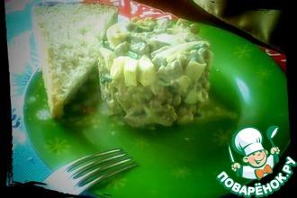 Рецепт: Вкусный печеночный салатик