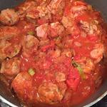 Тушеная баранина в томатном соусе
