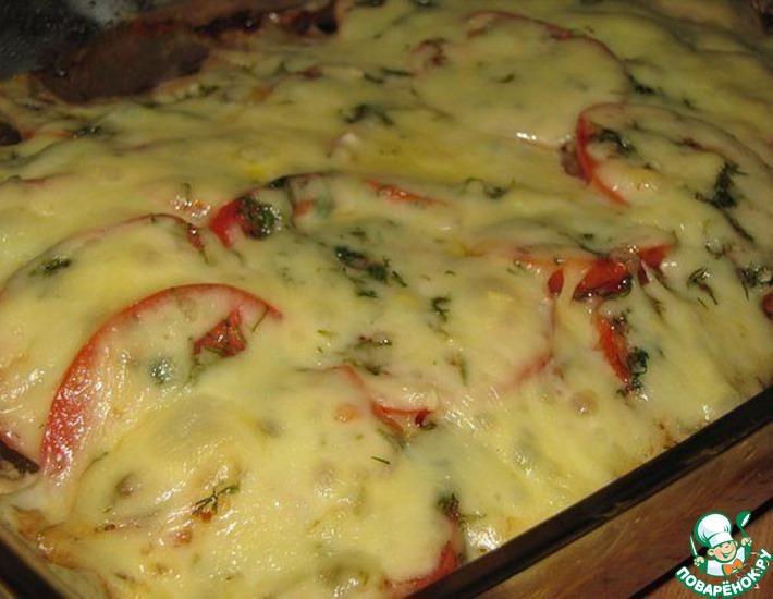 Рецепт: Куриная запеканка с баклажанами и помидорами