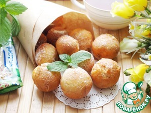 Cottage cheese donuts with cinnamon