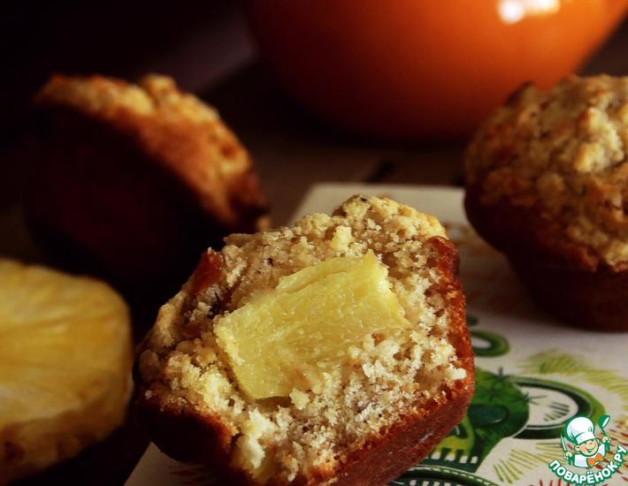 Рецепт: Маффины с ананасом и манго