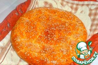 Рецепт: Творожный пирог с вишнёвой начинкой