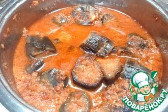 Рецепт: Баклажаны в томатном соусе по-армянски